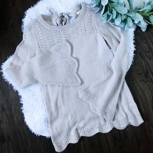 Lauren Conrad Bell Sleeved Pullover Sweater